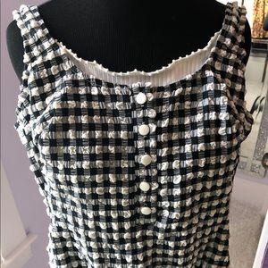 Vintage black & white gingham bathing suit